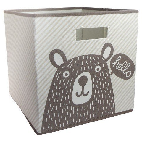 Fabric Cube Storage Bin Bear - Pillowfort TRG