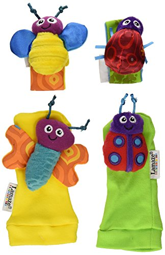 Lamaze Garden Bug Wrist Rattle/Foot Finder Set