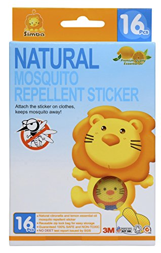 Simba Natural Mosquito Repellent Sticker with Citronella and Lemon Extract