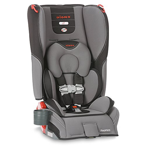 Diono Pacifica Convertible Plus Booster Seat with Body Pillow, Graphite