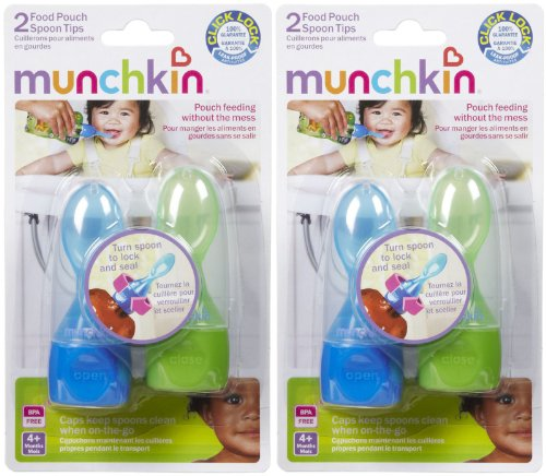 Munchkin Click Lock Food Pouch Spoon Tips