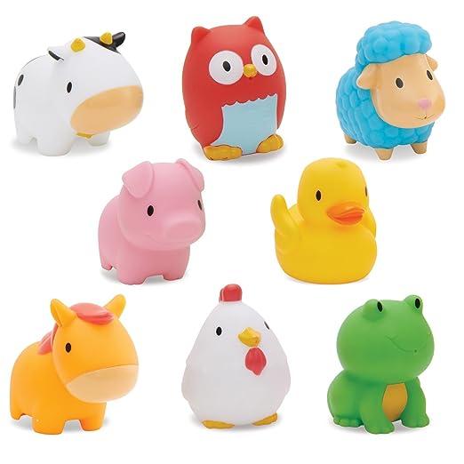 Amazon.com : Munchkin Squirtin Bath Toy, Barnyard Friends : Baby