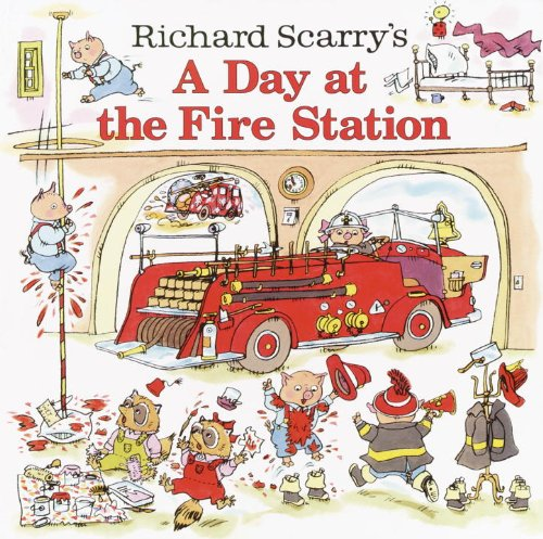 Richard Scarry's A Day at the Fire Station (Pictureback)