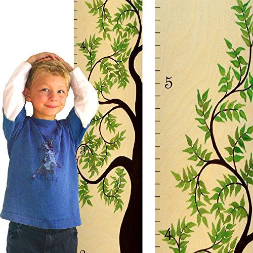 Growth Chart Art Hanging Wooden Growth Chart Ruler