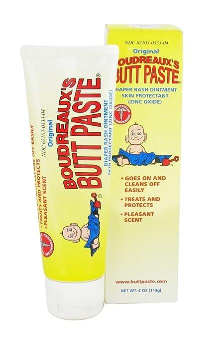 Amazon.com : Boudreaux's Butt Paste Diaper Rash Ointment Skin Protectant, 4 Oz : Diaper Creams : Baby