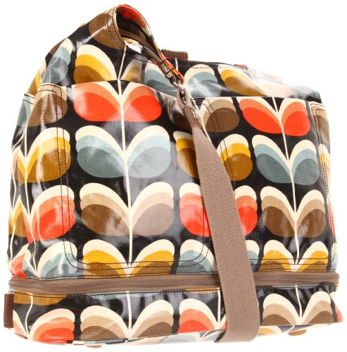 Orla Kiely Laminated Shadow Stem Print Baby Diaper Bag