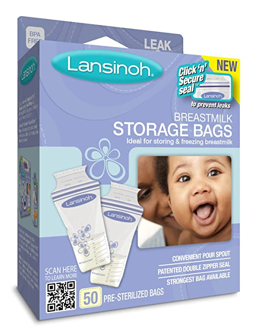 Amazon.com: Lansinoh Breast Milk Storage Bags, 50-Count: Health & Personal Care