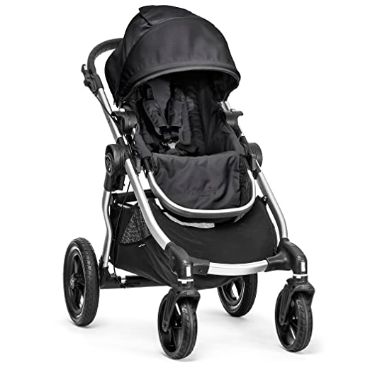 Amazon.com : Baby Jogger City Select Stroller In Onyx, Silver Frame : Tandem Strollers : Baby