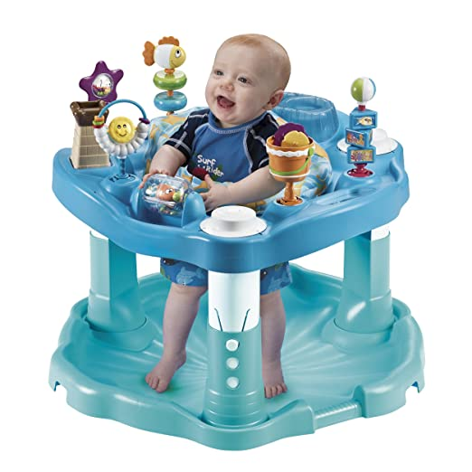 Amazon.com : Evenflo ExerSaucer, Beach Baby : Stationary Stand Up Baby Activity Centers : Baby