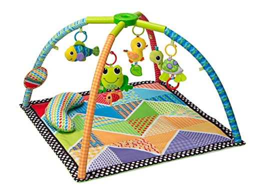 Amazon.com : Infantino Pond Pals Twist and Fold Activity Gym and Play Mat : Baby